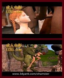 蝴蝶谷中文娱乐-3 d第2部分地下室戴绿帽者和怪物他妈的